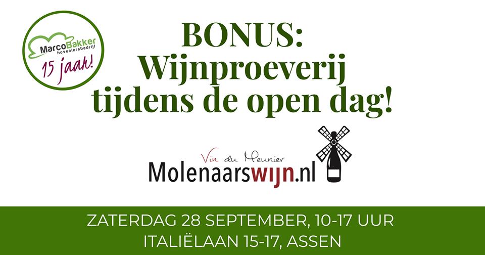 Wijnproeverij open dag