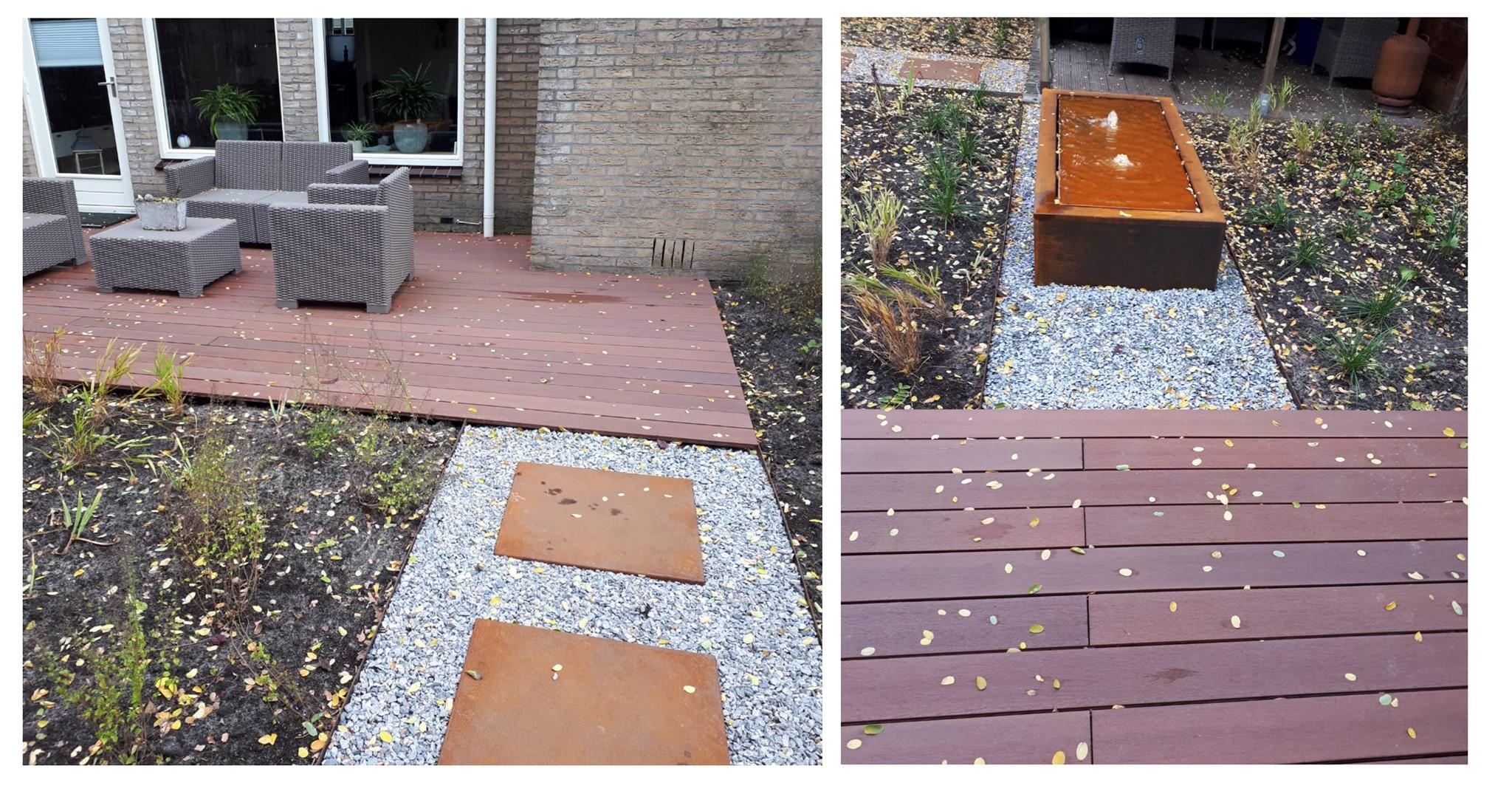 Schutting van betongaas